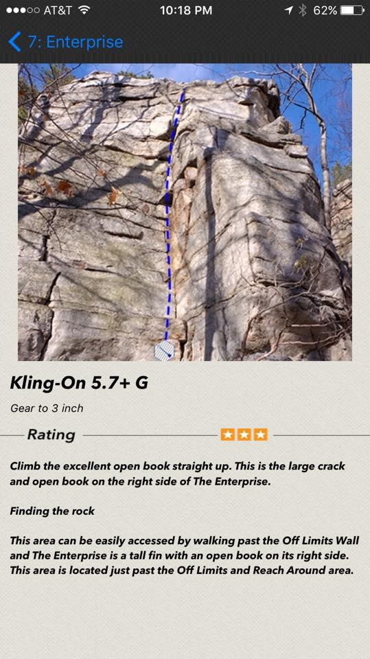 Peter's Kill Climbing Guidebook App - nextascent org