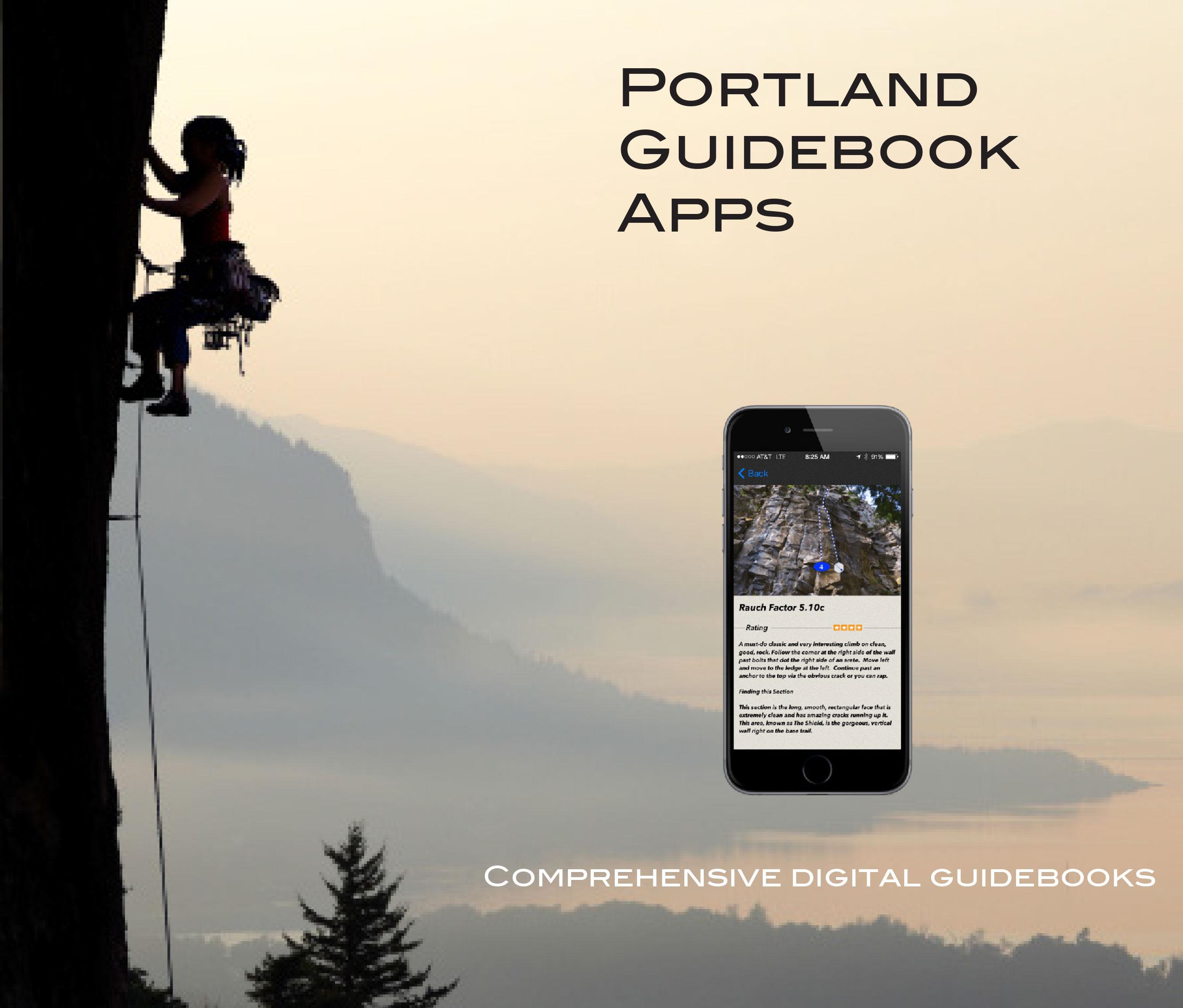 portland climbing guidebook apps
